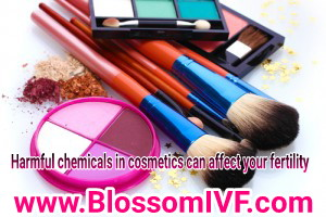 Harmful chemicals in cosmetics can affect your fertility